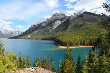 Lake Minnewanka landscape in Banff national park