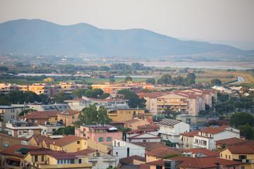 View to Castiglione della Pescaia,Tuscany, Italy