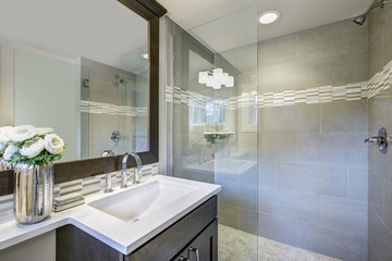 Modern new bathroom interior