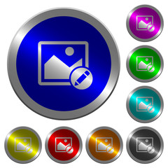 Rename image luminous coin-like round color buttons