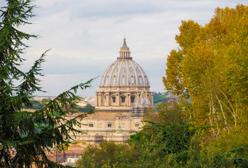 Rome (Italy) - From the Janiculum hill and terrace.