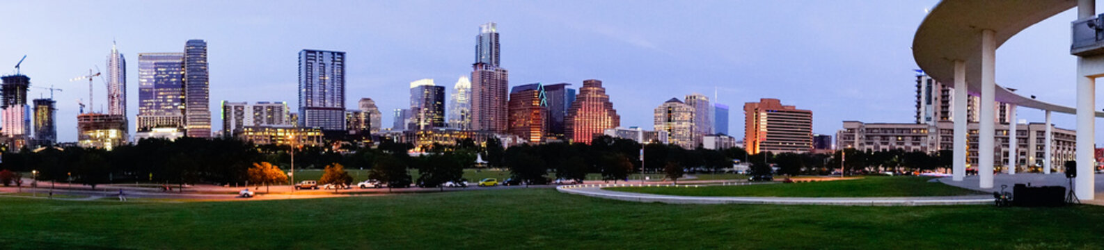 Austin Texas Downtown City Skyline Urban Architecture Panoramic