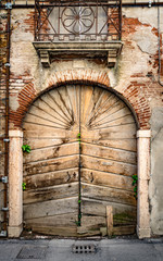 Old wooden portal.