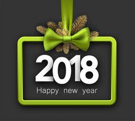 Green 2018 New Year background.