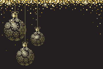 Gold Black Sparkle Ornaments Background Border Vector 1