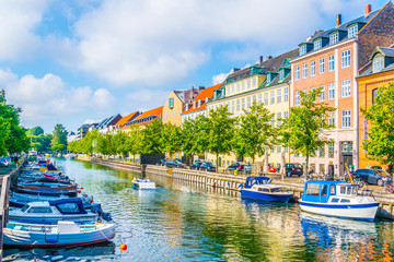 Garden Poster Scandinavia View of a channel in central Copenhagen, Denmark.
