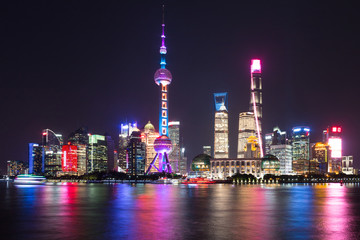 Photo sur Plexiglas Shanghai Shanghai Pudong night scene