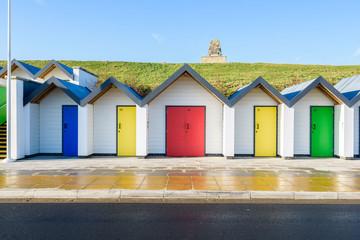 Colorful Beach Huts, Swanage, Dorset