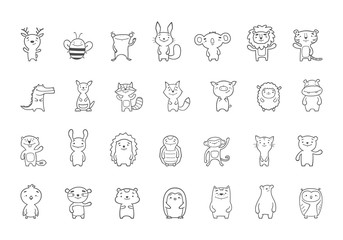 Vector 28 cute baby animals clipart