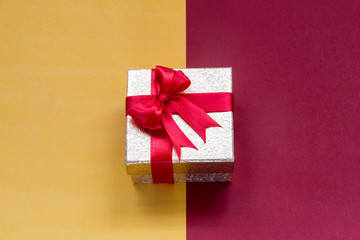 Christmas background with gift box,New Year background