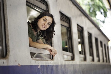 Woman Train Passenger