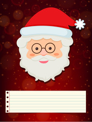 Christmas card template with santa