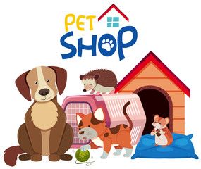 Cute pets by the pethouse
