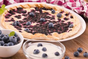 Blueberry tart.