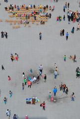 Fototapeta Ludzie widziani z góry obraz