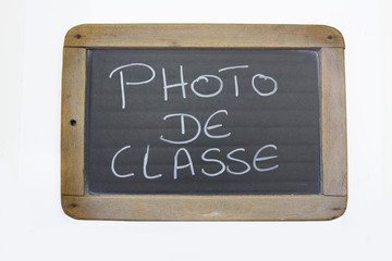 ardoise photo de classe