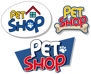 Sign template for pet shop