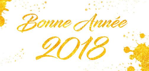 Bonne Année 2018 doré