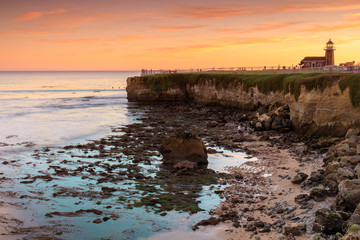 Sunset over Lighthouse Field State Beach. Also known as Point Santa Cruz. Santa Cruz, California, USA.