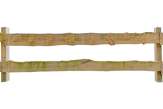 Holzzaun freigestellt