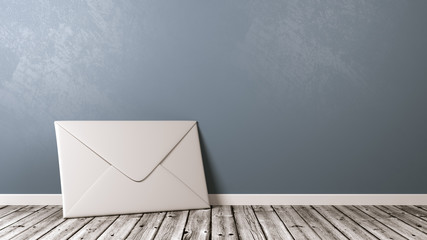 White Paper Envelope with Copyspace