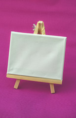 Empty canvas for painting