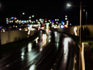 blurry background wallpaper traffic night city