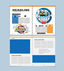 Business magazine, easy to editable vector