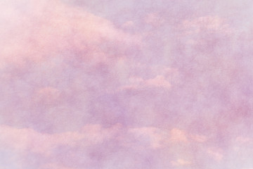 spring pink paper texture with cloudy blue sky