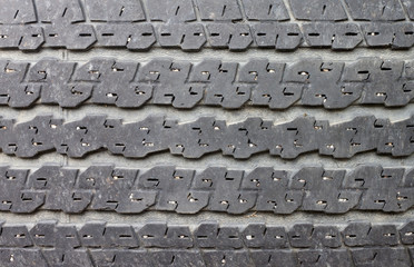 The tread pattern has already been used.
