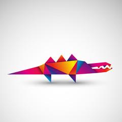 krokodyl origami wektor