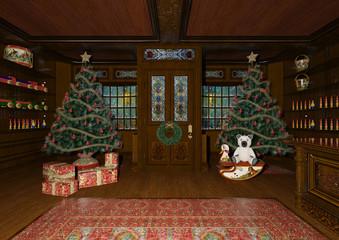 3D Rendering Christmas Toys