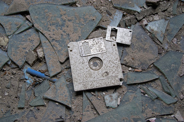 Abandoned floppy disc