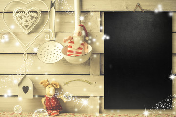 Background for writing the Christmas menu or greetings