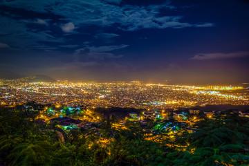 Night view of Kingston Jamaica