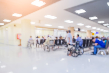 blur image background  of waiting area in hospital or clinic