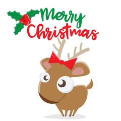 merry christmas reindeer clipart