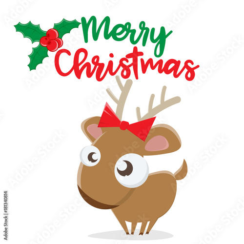 merry christmas reindeer clipart stock image and royalty free rh fotolia com animated christmas reindeer clipart animated christmas reindeer clipart