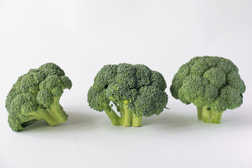 Pieces of broccoli / Branchlets of broccoli as sample of bonsai trees