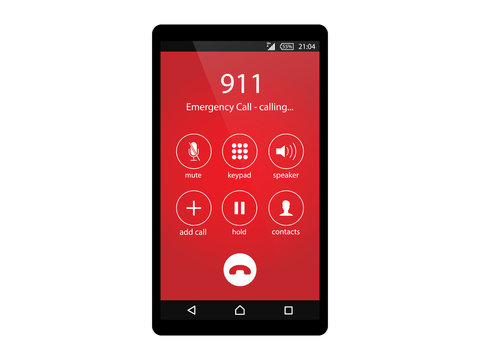 Call 911, emergency call concept Modern flat design vector illustration