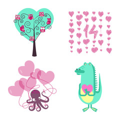 love elements for Valentines day