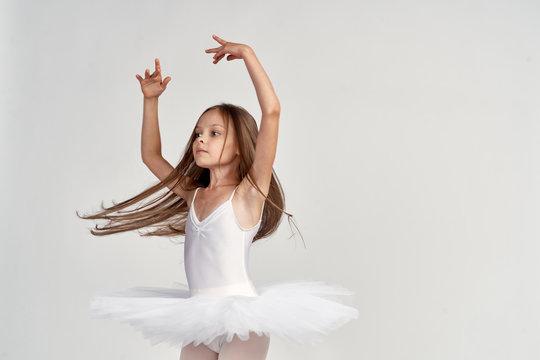 little ballerina is dancing