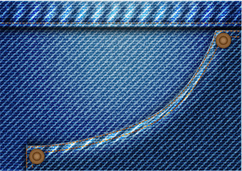 Concept denim cloth texture and pattern background. Vector EPS10