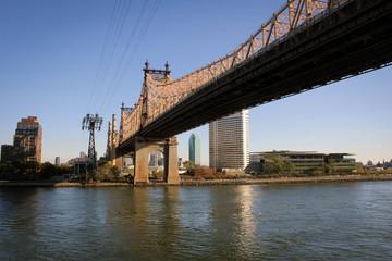 Queensboro bridge view from Manhattan, New York, USA