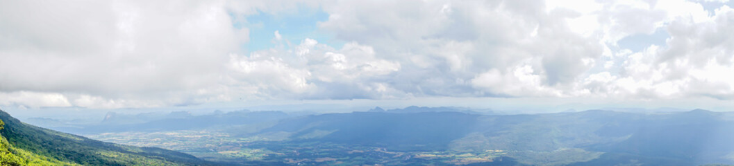 panirama lanscape mountain with cloud