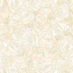 roses semless vector pattern