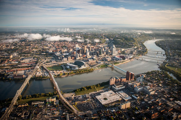 Aerial view of Cincinnati Ohio
