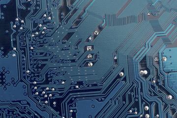 computer board, close-up