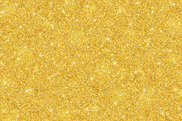 Gold glitter festive background, horizontal texture Wall mural
