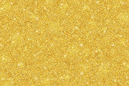 Gold glitter festive background, horizontal texture